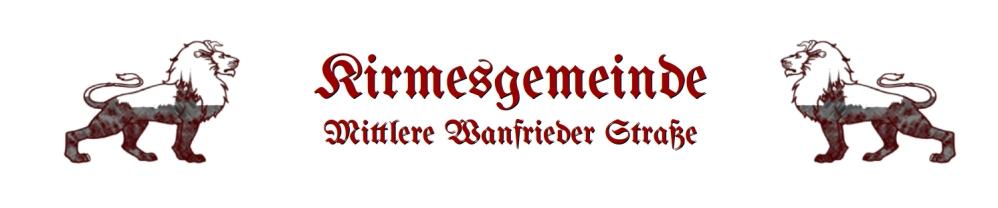 WIR UNTERSTÜTZEN die Kirmesgemeinde Mittlere Wanfrieder Straße Mühlhausen